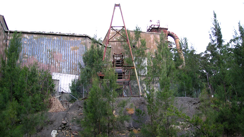 Hornsby quarry old crusher plant building